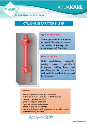 CYCLONE SEPARATOR FILTER