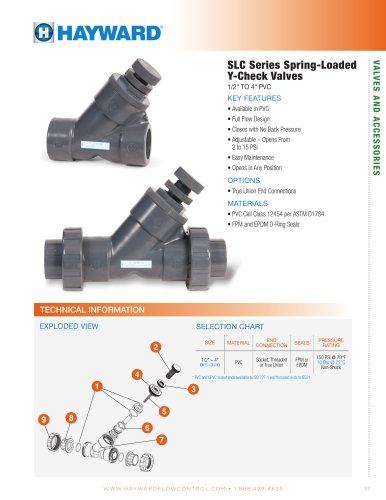 SLC Series Spring-Loaded Y-Check Valves