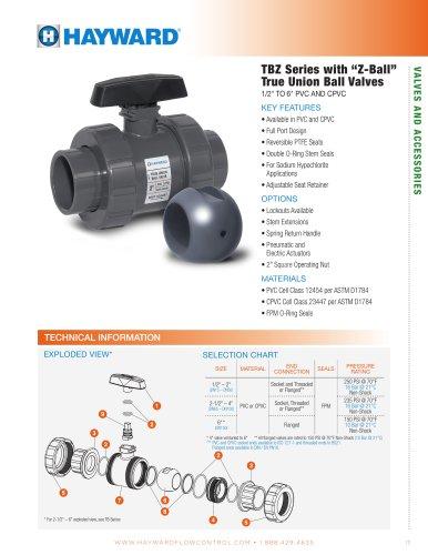 "TBZ Series with ""Z-Ball"" True Union Ball Valves"