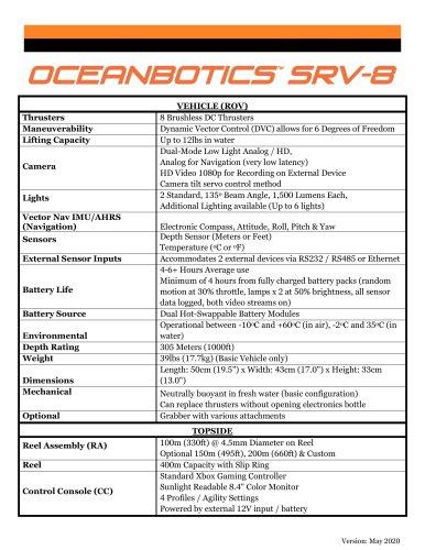 SRV-8 Specs