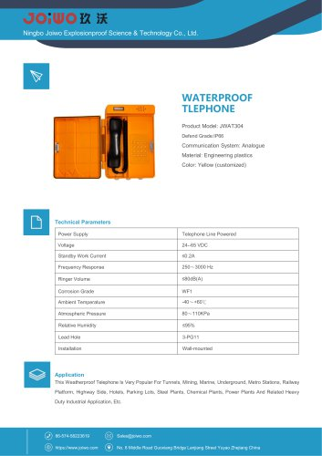 industrial plastic waterproof telephone