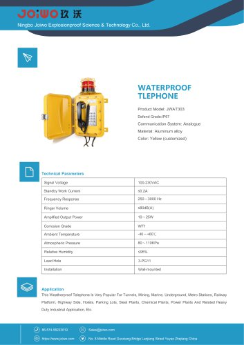 weather-resistance telephone with warning light