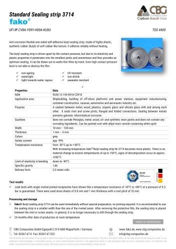 TDS FAKO-CBG 3714 Sealing strip