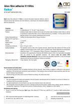 TDS FAKO-CBG 9119XTRA Glass fibre adhesive