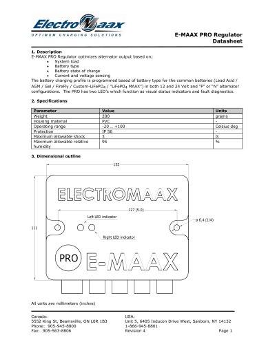 e-maax-pro-datasheet