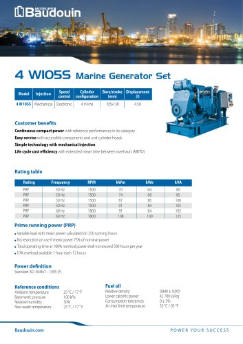 4 W105S Generator