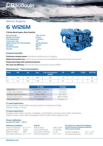 6 W126M Propulsion engine
