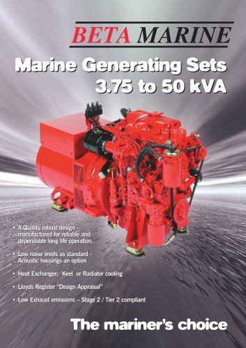 Marine Generating Sets 3.75 to 50 kVA