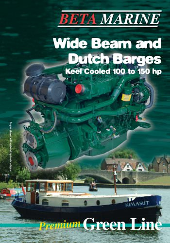 Wide Beam and Dutch Barges Keel Cooled 100 to 150 hp