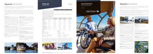 Brochure Yacht charter 2015