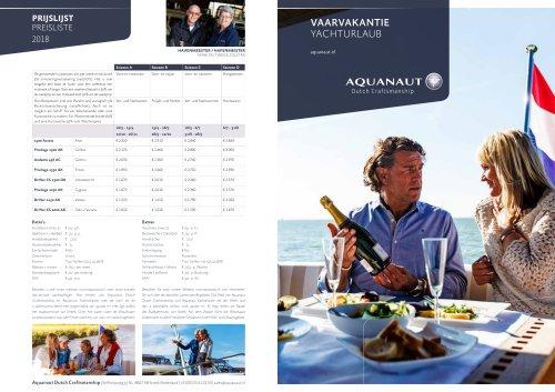 Brochure Yacht charter 2018