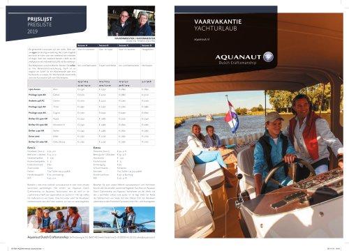 Brochure Yacht charter 2019