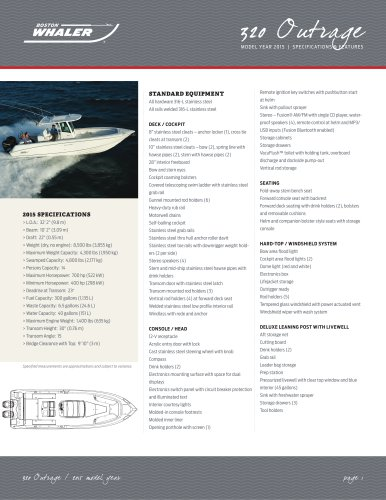 320 Outrage Specifications - 2015
