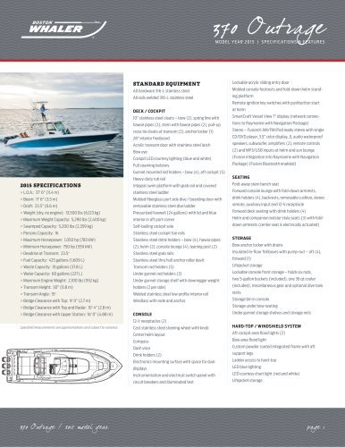 370 Outrage Specifications - 2015