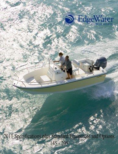 EdgeWater Specs 145cc to 205cc Models