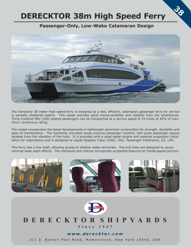DERECKTOR 38m High Speed Ferry
