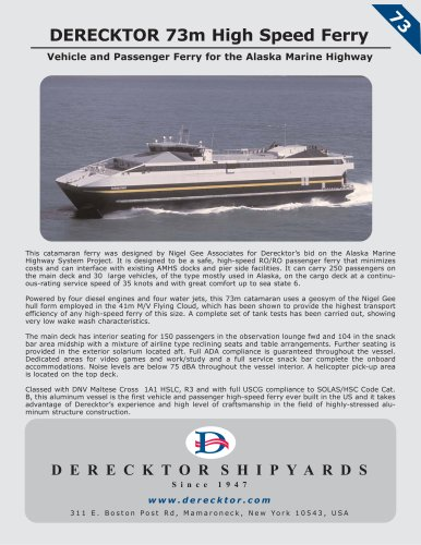 DERECKTOR 73m High Speed Ferry