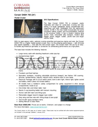 CORSAIR DASH 750 (24') Sailplan