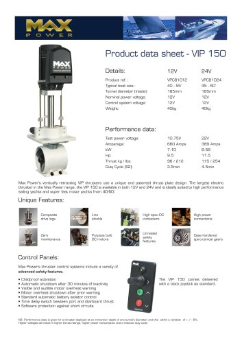 VIP150-Product-Data-Sheet