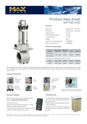 VIP150HYD-Product-Data-Sheet