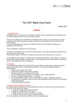 wally class rules - 2
