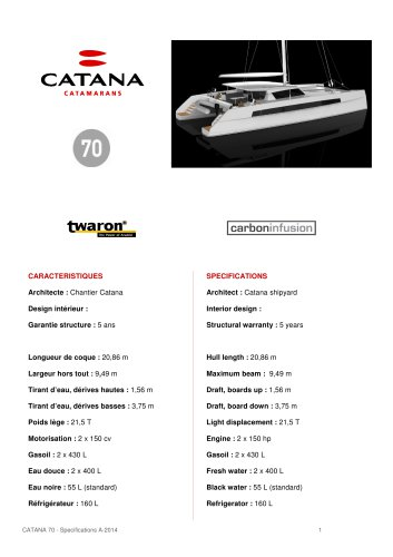 specifications c70