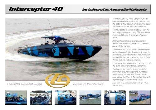 LeisureCat Interceptor 40 (Fast Patrol Boat)