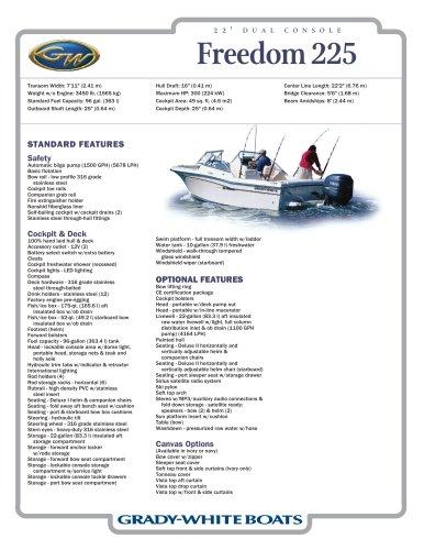 Freedom 225 - Grady-White - PDF Catalogs | Documentation