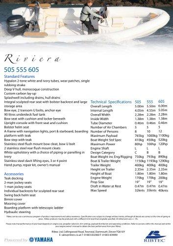 RIVIERA 505-555-605 SERIES