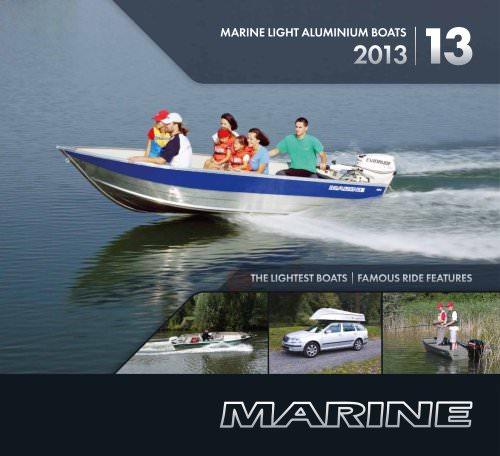 Marine light alumnium boats 2013