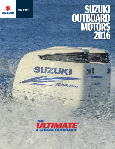 2016 Suzuki Outboard Motors Catalog