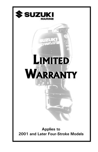 Suzuki Limited Warranty Booklet