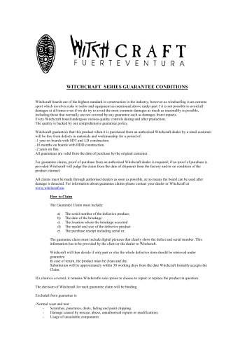 Witchcraft Series Guarantee
