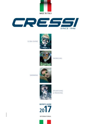 CRESSI Catalogue 2017