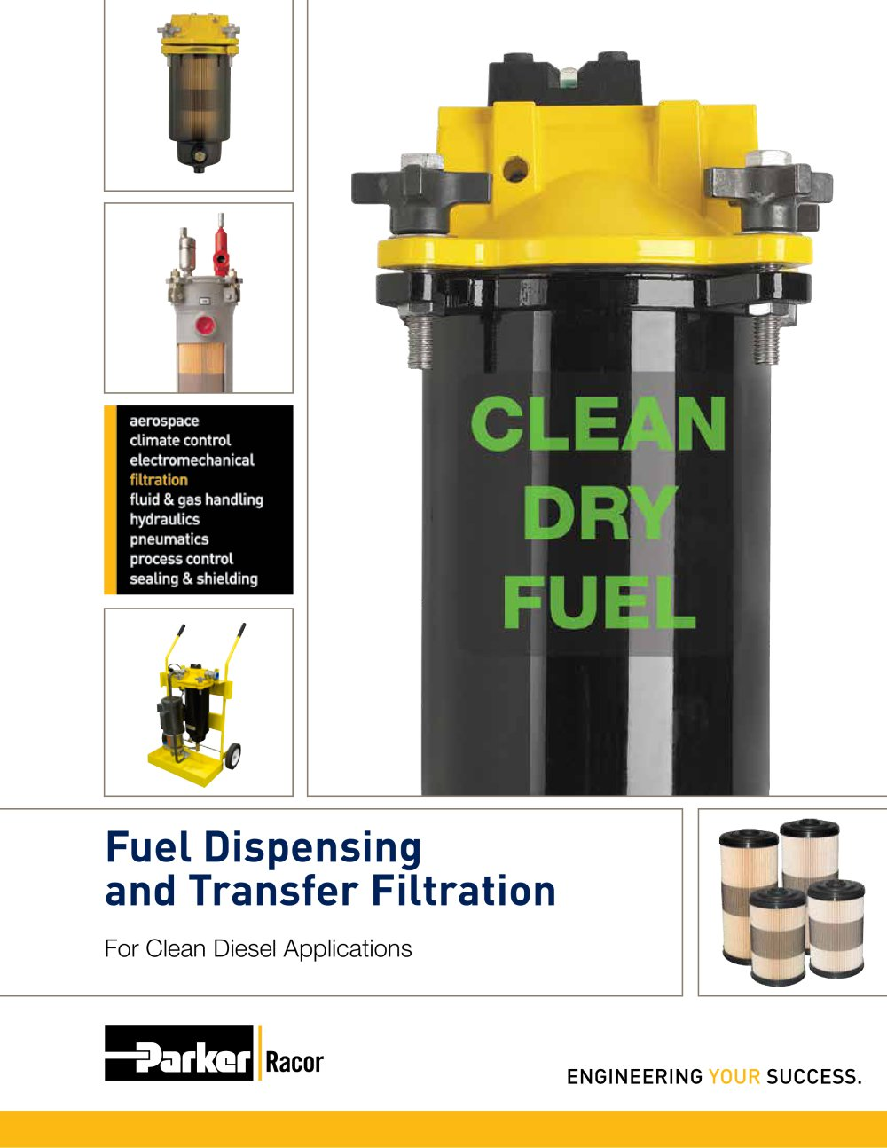 Clean Dry Fuel Parker Hannifin Pdf Catalogues Documentation Racor Filter 1 16 Pages