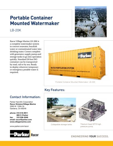 LB-20K Portable MontainerMnounted Watermaker
