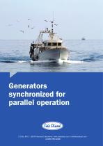 Marine generators synchronized for parallel operation