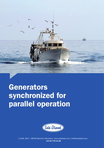 Marine generators synchronized for parallel operation