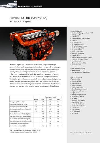 DI09 070M. 184 kW (250 hp)
