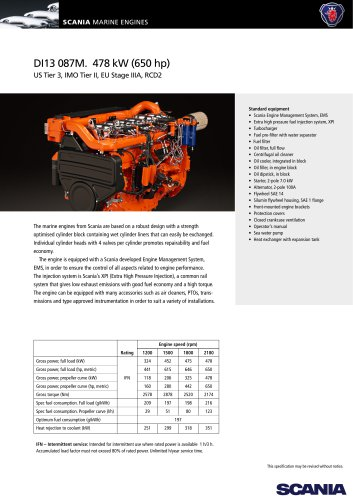 DI13 087M. 478 kW (650 hp)