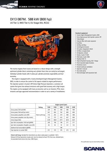 DI13 087M. 588 kW (800 hp)