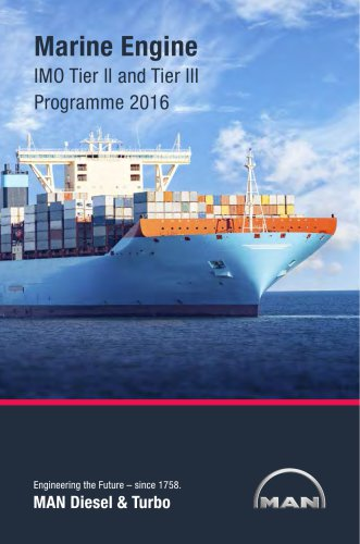 Marine Engine IMO Tier II and Tier III Programme 2016