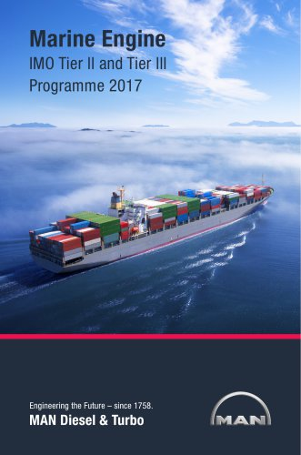 Marine Engine Programme IMO Tier II and Tier III Programme 2017