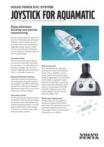 Joystick for aquamatic