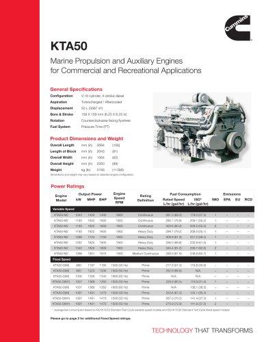 KTA50 Cummins Marine PDF Catalogs Documentation