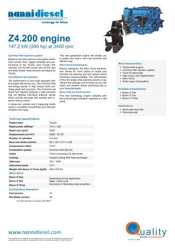 Feuillet Z4.200 ENG