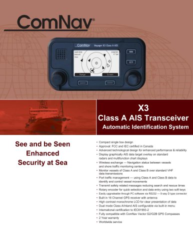 X3 Class A AIS Transceiver Automatic Identification System
