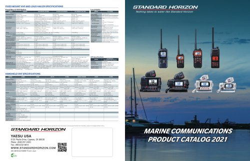 Marine catalog 2021