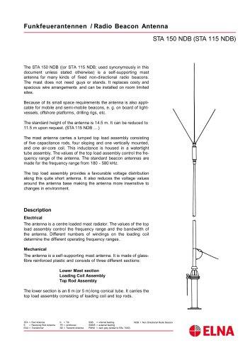 ELNA - Non-directional beacon antennas (NDB)