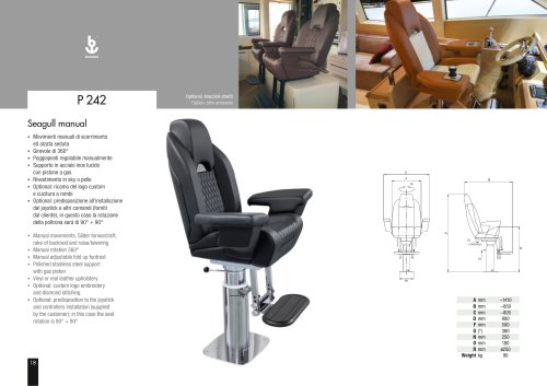 Besenzoni Helm Seat P 242 Seagull Manual